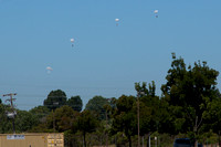Paratroopers just happened to be training that day.